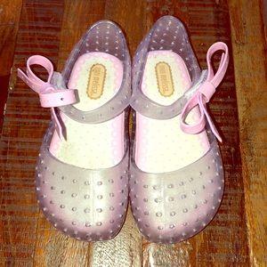 Mini Melissa glitter sandals